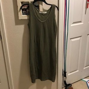 Michael Stars military olive green stretchy dress